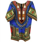Boy's Dark Blue Traditional V-neck Dashiki
