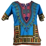 Boy's Indigo Traditional V-neck Dashiki