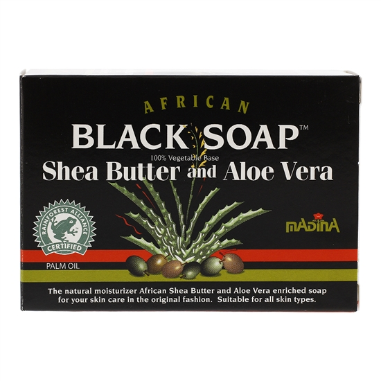 African Black Soap 100% Vegetable Base Shea Butter and Aloe Vera