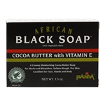 African Black Soap 100% Vegetable Base Cocoa Butter with Vitamin E