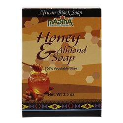 African Black Soap with Sweet Almond Oil and Honey 100% Vegetable Base