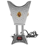 Square Electric Incense Burner in Silver Stone