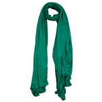 Plain Emerald Green Lightweight Womens Jersey Hijab Scarf