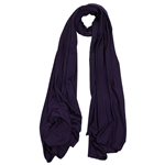 Plain Eggplant Purple Lightweight Women's Jersey Hijab Scarf