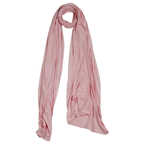 Plain Rose Pink Soft Lightweight Women Hijab Scarf
