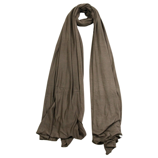 Plain Tawny Brown Lightweight Womens Scarf Jersey Hijab
