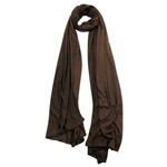 Plain Walnut Brown Lightweight Womens Scarf Hijab
