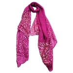 Purple Lightweight Rectangle Women's Hijab Scarf