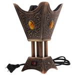 Copper Tone Electric Incense Bakhoor Burner
