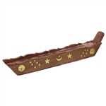 Incense Stick Burner With Storage & Star Stickers