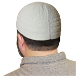 Vanilla Cotton Knitted Kufi Muslim Prayer Men's Skull Cap Islamic Hat Knit Topi