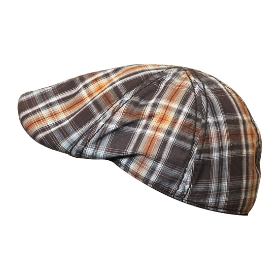 Men's Casual Brown and Orange Newsboy Cap