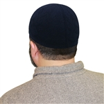 Islamic Muslim Knitted Kufi Prayer Cap in Black
