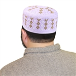 Men's Islamic Muslim Kufi Prayer Cap - 22.5""