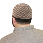 Brown Kufi Muslim Prayer Men's Skull Islamic Hat