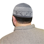 Islamic Hat Muslim Mens Prayer Dark Gray Knitted Kufi Skull Cap Topi