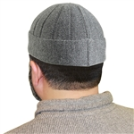 Gray Muslim Mens Prayer Kufi Hat Beanie