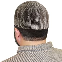 Light Brown Muslim Mens Prayer Kufi Hat