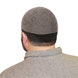 Warm Gray One Warm Gray Size Plain Muslim Mens Prayer Kufi Hat