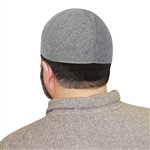 Light Gray One Size Fits Most Traditional Plain Knitted Muslim Mens Prayer Kufi Hat
