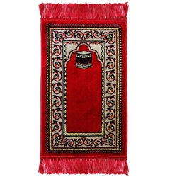 Kids Red Simple and Kaaba Image with Rug