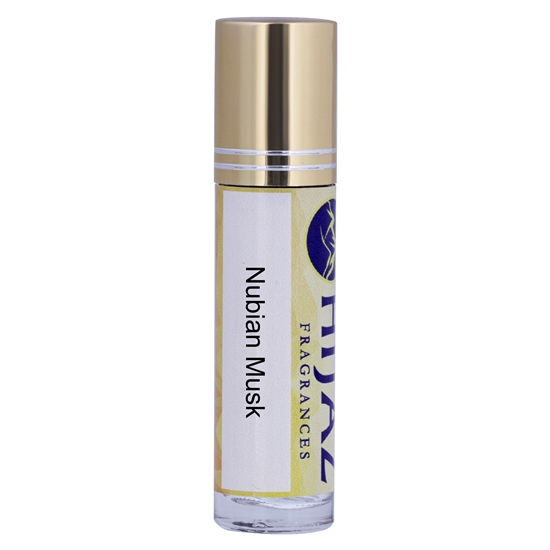 Nubian Musk Fragrance Alcohol Free Body Oil 1/3 oz Roll on bottle