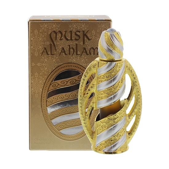 Musk Al Ahlam Essential Scented Body oil blends in Exquisite bottle