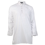 Plain Long Sleeve Band Collar Casual Kurta