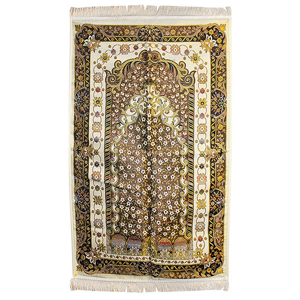 Muslim Prayer Rug 2 2 X 3 7 With Wonderful White Black