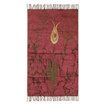 Muslim Prayer Rug Mat Rose Gold Light Green Color with Tassels #PM265