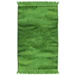 Muslim Prayer Rug 3.6' x 2.3' Solid Plain Green Color with Tassels