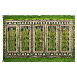 Five Person Lime Green Pillar Archway Prayer Rug