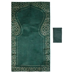 "42"" x 23"" Green Antibacterial Material Easy Fold Travel Sized Pocket Prayer Rug"