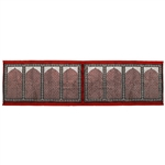 Eight Person Red Lotus and Granite Archway Design Prayer Rug with Red Tassles