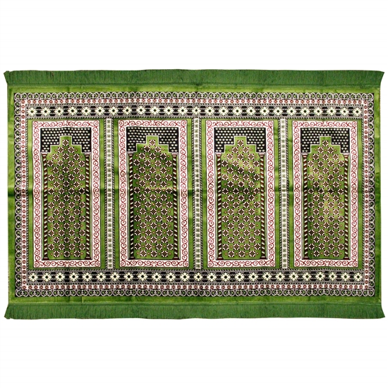 Four Person and Floral Archway Family Prayer Rug