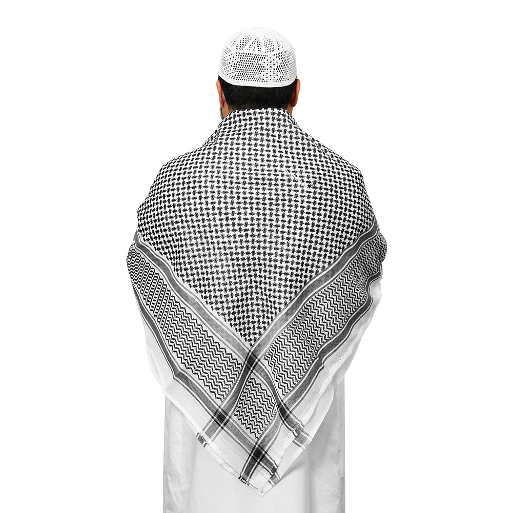 Muslim Prayer Square Scarf Black Amp White Shemagh Keffiyeh