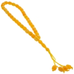 33 Count Orange and Yellow Islamic Rosary Prayer Beads tasbih