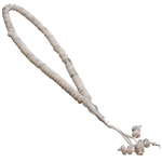 99 Count Islamic White Marble Colored Rosary Prayer Beads Tasbih