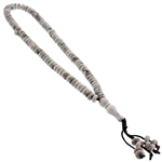 33 Count Gray Marble Design Islamic Rosary Prayer Beads Tasbih