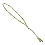 99 Count Green Rosary Prayer Beads Tasbih with Multiple Shades of Green