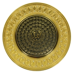 Gold Tone 99 Names of Allah 42cm Circle Wall