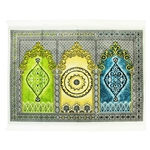 Fancy Thick Three Person Extra Large Family Jacquard Prayer Rug Janamaz Sajada