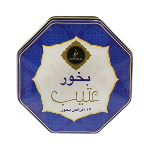 Oud soaked in essentials oils Atteb Bakhoor 15 incense tablets
