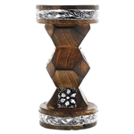 Floral Designed Wooden Incense Bakhoor Burner