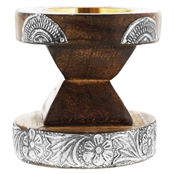 Wooden Floral Design Incense Bakhoor Burner