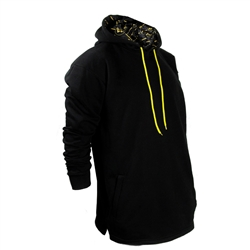 Unisex Black and Yellow Kurta Sweatshirt Hoodie with Inner Logo Print