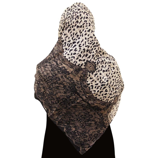 Snow Leopard Print and Snake Skin Pattern Muslims Women's Headscarf Hijab