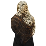Cheetah Print and Snake Skin Pattern Muslims Women's Headscarf Hijab
