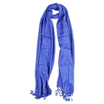 Blue Jacquard Style Embroidered Womens Hijab Scarf