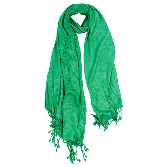 Lime Green Jacquard Style Women's Hijab Scarf